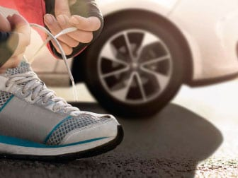 O seu calçado leva-o mais longe…o do seu carro também!